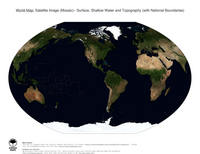 #27 Map World: Surface, Shallow Water and Topography (with National Boundaries)