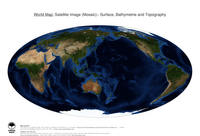 #11 Map World: Surface, Bathymetrie and Topography