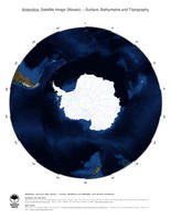 #3 Map Antarctica: Surface, Bathymetrie and Topography (with National Boundaries)