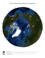 #2 Map Arctic Ocean: Surface, Bathymetrie and Topography
