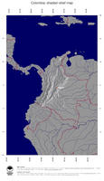 #4 Map Colombia: shaded relief, country borders and capital