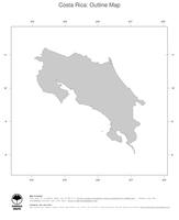 #1 Map Costa Rica: political country borders (outline map)