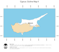 #2 Map Cyprus: political country borders and capital (outline map)