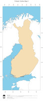 #2 Map Finland: political country borders and capital (outline map)