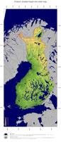#4 Map Finland: color-coded topography, shaded relief, country borders and capital