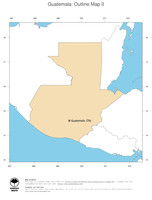 #2 Map Guatemala: political country borders and capital (outline map)
