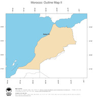 #2 Map Morocco: political country borders and capital (outline map)