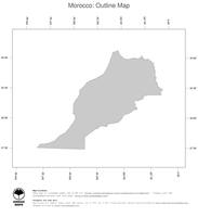 #1 Map Morocco: political country borders (outline map)