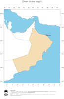 #2 Map Oman: political country borders and capital (outline map)