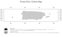 #1 Map Puerto Rico: political country borders (outline map)