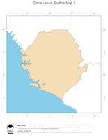 #2 Map Sierra Leone: political country borders and capital (outline map)
