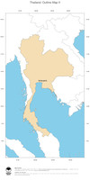 #2 Map Thailand: political country borders and capital (outline map)