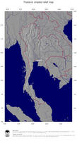 #4 Map Thailand: shaded relief, country borders and capital