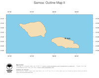 #2 Map Samoa: political country borders and capital (outline map)