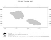 #1 Map Samoa: political country borders (outline map)