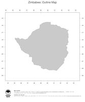 #1 Map Zimbabwe: political country borders (outline map)